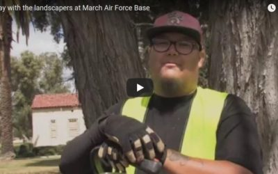 A day with the landscapers at March Air Force Base
